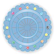 Stock Illustration of set of pins