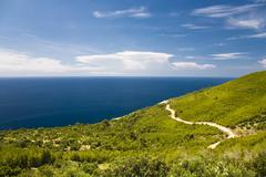 coastal landscape of mljet island, dubrovnik-neretva, dalmatia, croatia, euro - stock photo
