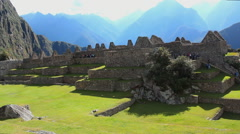 Main Square of Machu Picchu, Peru - UNESCO World Heritage Site Stock Footage