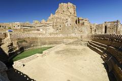 historic cistern in thula, yemen, arabia, arabian peninsula, the middle east - stock photo