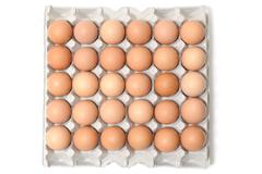 5 x 6 egg box and eggs - stock photo