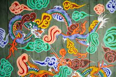 Traditional pattern of korean traditioanl architecture, castle gate Stock Photos