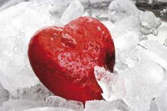heart in ice - stock photo