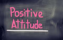 Positive attitude concept Stock Illustration