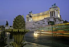 Stock Photo of monumento a vittorio emanuele, national monument of victor emmanuel ii, piazz