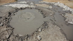 Mud volcano Stock Footage