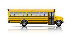 Keltainen koulubussi Kuvituskuvat
