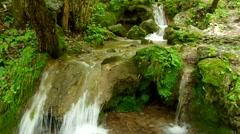 Waterfall in the National Park Slovak Karst, in the village named Haj Stock Footage