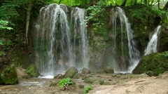 Waterfall in the National Park Slovak Karst, in the village named Haj Stock Footage