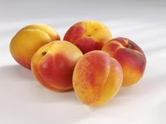 apricots (prunus armeniaca) - stock photo