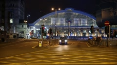 Liverpool Train Station in Liverpool, GB, UK, England Stock Footage
