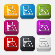 Square button: angle Stock Illustration