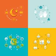 Stock Illustration of flat infographic: Ramadan Kareem