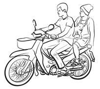 Puppy passenger Stock Illustration
