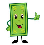 Merry dollar shows a sign perfectly Stock Illustration