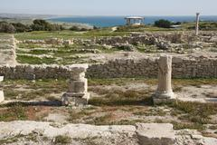 sanctuary of apollo, roman excavations, kourion, cyprus - stock photo