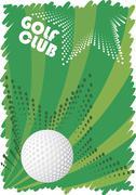Green golf motive Stock Illustration