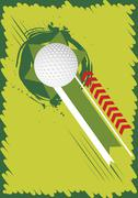 Green golf bacground for poster Stock Illustration