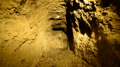 Dolly Pan of Abandon Gold Silver Mine at Night Stock Footage