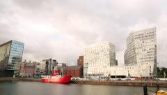 Liverpool Waterfront  Albert Dock Harbour Stock Footage