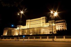 Palace of the parliament in bucharest, romania. Stock Photos