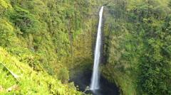 4K Time Lapse of Akaka Falls in Hawaii -Pan Right- Stock Footage
