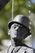 Karl Valentin fountain Munchen Munich Bavaria Germany Stock Photos