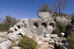 Stock Photo of termessos national park near antalya turkey ancient city termessos excavation