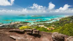 East Mahe Coast Timelapse, Seychelles Stock Footage