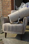 Stock Photo of old arm chairs with bulk rubbish