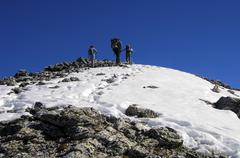Stock Photo of ascent to the peak valais switzerland