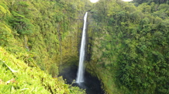 Stock Video Footage of 4K Time Lapse of Akaka Falls in Hawaii -Zoom In-