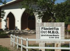 brethren mennonite church, mennonite colony, filadelfia, fernheim, gran chaco - stock photo
