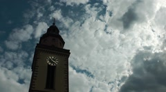 Church and Clouds Time Lapse Stock Footage