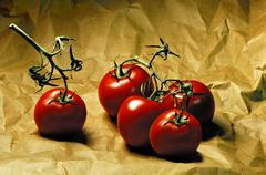 tomatoes (lycopersicon esculentum) - stock photo