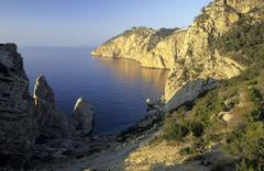Stock Photo of Northwest coast of Ibiza, cliffs at Penyal de s`Aguila