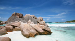 La Digue Beach, Seychelles Stock Footage