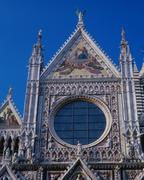 Facade of the cathedral santa maria assunta, siena, tuscany, italy Stock Photos