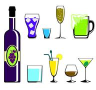 Colors drinks icon Stock Illustration