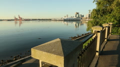 Seawall Jogger, Stanley Park Vancouver Stock Footage