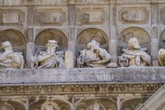 12 apostles, facade of the cathedral of toledo, spain Stock Photos