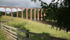Leaderfoot Viaduct in Melrose, Scotland Stock Footage