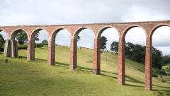 Leaderfoot Viaduct in Scotland Stock Footage