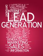 Word cloud lead generation Stock Illustration
