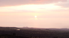 Stock Video Footage of Time Lapse of Sunset Seascape Long Shot in Hawaii -Zoom Out-