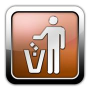 Icon, button, pictogram litter container Stock Illustration