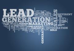 Word cloud lead generation Stock Illustration