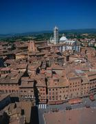 View on siena with cathedral santa maria assunta, siena, tuscany, italy Stock Photos