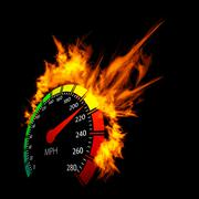 Stock Illustration of burning speedometer