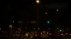 Night Traffic Jam in Rio de Janeiro Stock Footage